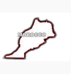 Outline map of morocco vector