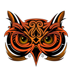 Owl tattoo shape vector