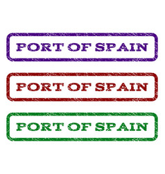 Port of spain watermark stamp vector
