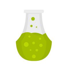potion flask icon flat style vector image