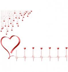 Pulse of love vector