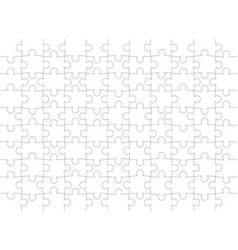 puzzle pattern texture isolated on a white vector image