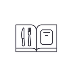 restaurant menu line icon concept restaurant menu vector image