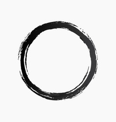 ring watercolor texture black color style vector image