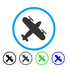 Screw aeroplane rounded icon vector