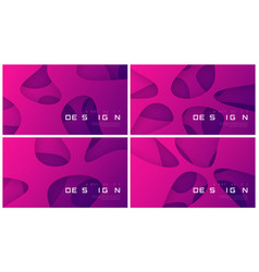 set of abstract futuristic gradient vector image