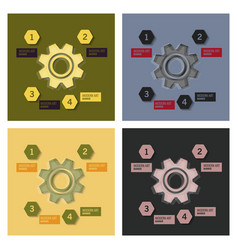 set of technology background with gear wheel vector image
