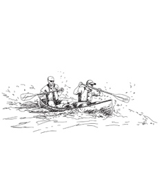 Sport canoe vector