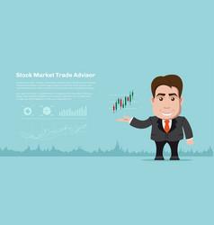 Stock market trading concept banner vector