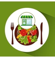 store fresh vegetables healthy food vector image