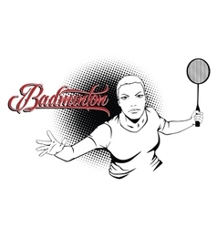 Summer kinds of sports Badminton vector