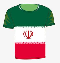 T-shirt flag iran vector