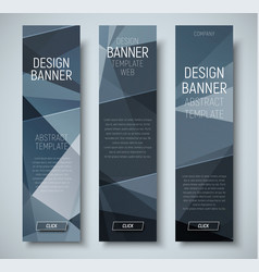 template vertical web banners with abstract vector image vector image