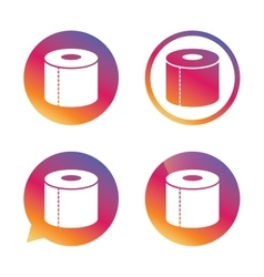 Toilet paper sign icon WC roll symbol vector image vector image