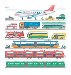 transport public transportable bus vector image