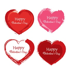 valentine day symbol paint brush vector image vector image