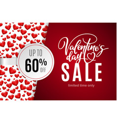 valentines day holiday sale 60 percent off vector image