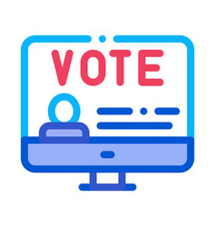 vote computer information icon outline vector image