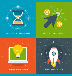 website promotion banners templates and flat icons vector image