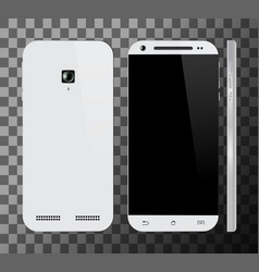 white smartphone with blank screen vector image
