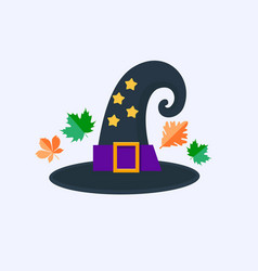 witch hat for halloween isolated on white vector image
