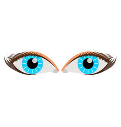 Woman eye face body icon label vector