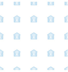 wooden wall icon pattern seamless white background vector image