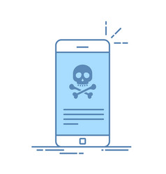 broken smartphone malware notification on vector image