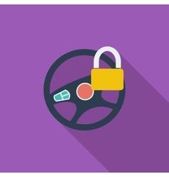 Car Steering Wheel flat icon vector image vector image
