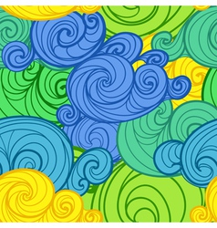 curled abstract clouds vector image vector image