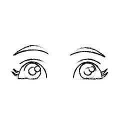 beautiful eyes cartoon vector image vector image