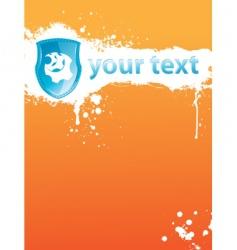 blot orange vector image vector image