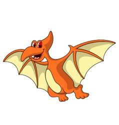 cute pterodactyl cartoon vector image vector image