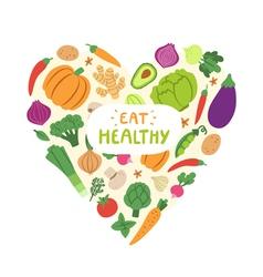 Eat healthy vector