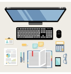 Office workplace flat vector image vector image