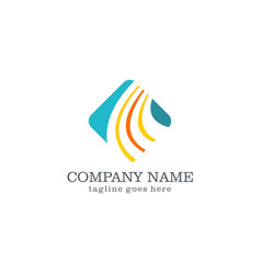 square business finance logo design vector image