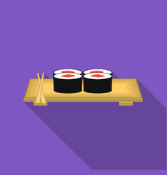 sushi icon in flat style isolated on white vector image