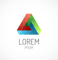 Triangle abstract logo template icon RGB colors vector image