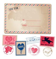Vintage love card vector