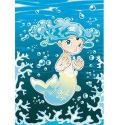 Baby Siren vector image vector image
