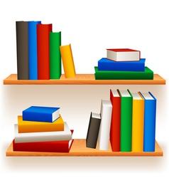 bookshelves vector image vector image