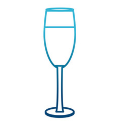 champagne cup drink vector image vector image