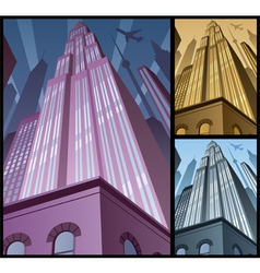 Cityscape Vertical 2 vector image vector image