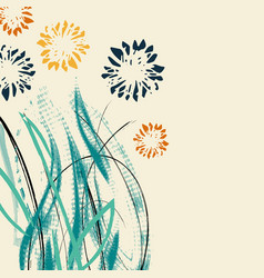 creative universal floral card hand drawn vector image vector image