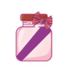Crystal jar with ribbon bow decoration design vector
