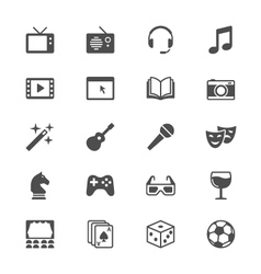 Entertainment flat icons vector image vector image