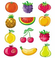 set of juicy fruit vector image vector image