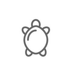 simple turtle line icon symbol and sign vector image vector image