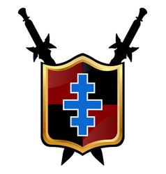 templar shield icon vector image vector image