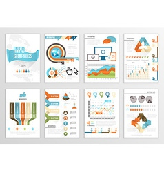 Big set of infographics elements business flyer vector image
